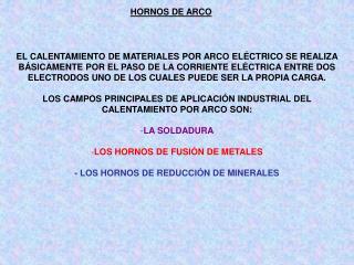 HORNOS DE ARCO