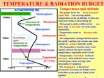 TEMPERATURE  RADIATION BUDGET