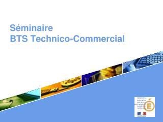 S minaire  BTS Technico-Commercial .