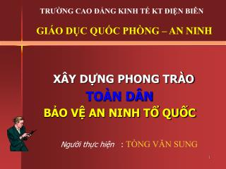 X Y DNG PHONG TR O TO N D N  BO V AN NINH T QUC