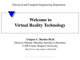 Welcome to Virtual Reality Technology