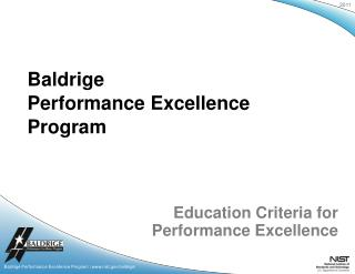 Education Criteria for  Performance Excellence