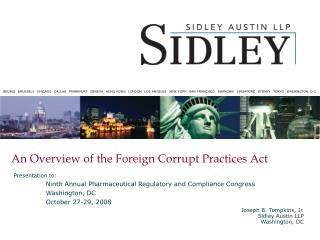 An Overview of the Foreign Corrupt Practices Act