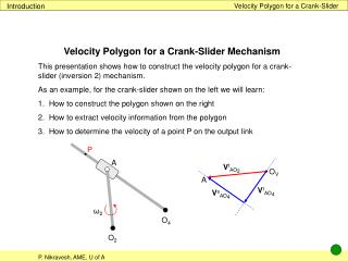 Velocity Polygon for a Crank-Slider
