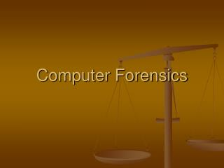 Computer Forensics Overview Computer Crime Laws