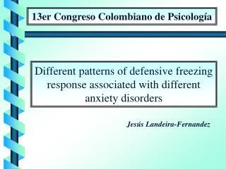 13er Congreso Colombiano de Psicolog a