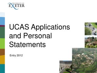 UCAS Applications and Personal Statements