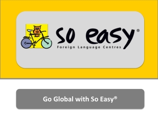 Educational franchise of SO EASY foreign language centers