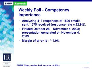 Weekly Poll - Competency Importance