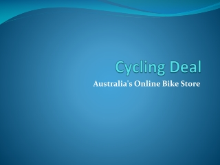 Cycling Deal - mountain bikes