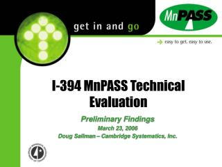 I-394 MnPASS Technical Evaluation