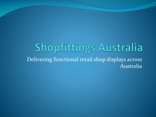 Shopfittings Australia - display shop counters cabinets