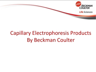Beckman Coulter - Capillary Electrophoresis Products