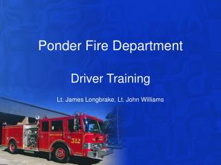 Ponder Fire Department