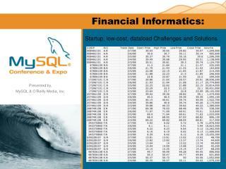Financial Informatics: