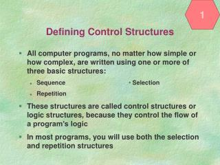 Defining Control Structures