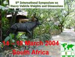 14   18 March 2004 South Africa