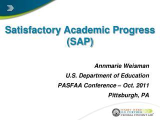 Satisfactory Academic Progress  SAP