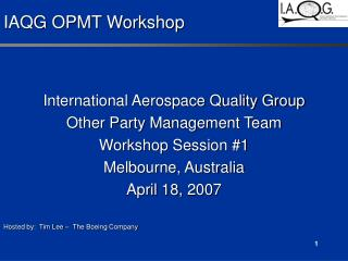 IAQG OPMT Workshop
