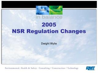 2005 NSR Regulation Changes