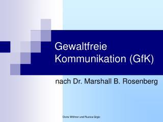 Gewaltfreie Kommunikation GfK