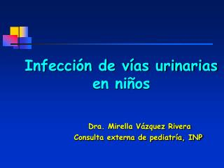 Infecci n de v as urinarias en ni os