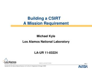 Building a CSIRT  A Mission Requirement