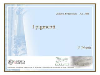 I pigmenti
