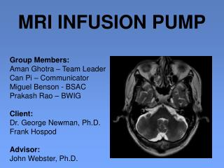 MRI INFUSION PUMP