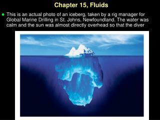 Chapter 15, Fluids