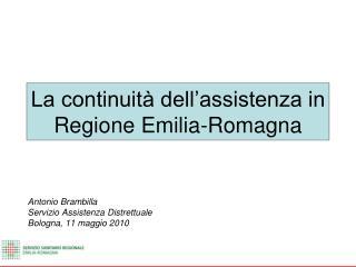 La continuit  dell assistenza in Regione Emilia-Romagna