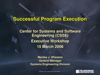 Successful Program Execution