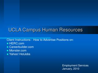 UCLA Campus Human Resources