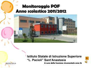 Monitoraggio POF Anno scolastico 2011
