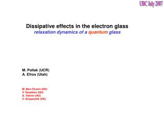 Dissipative effects in the electron glass relaxation dynamics of a quantum glass