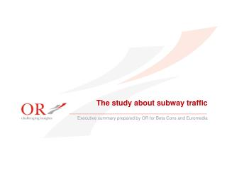 The study about subway traffic