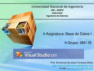 Universidad Nacional de Ingenier a UNI   NORTE Sede Estel  Ingenier a de Sistemas