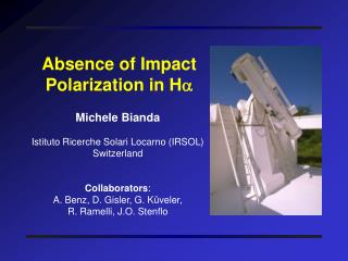 Absence of Impact Polarization in H