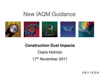 New IAQM Guidance