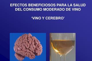EFECTOS BENEFICIOSOS PARA LA SALUD  DEL CONSUMO MODERADO DE VINO   VINO Y CEREBRO