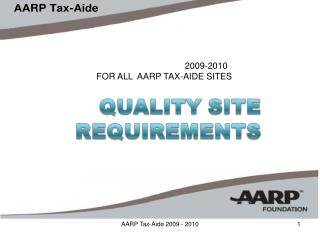 AARP Tax-Aide 2009 - 2010