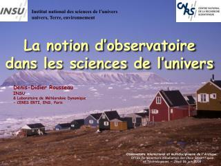 Institut national des sciences de l univers univers, Terre, environnement
