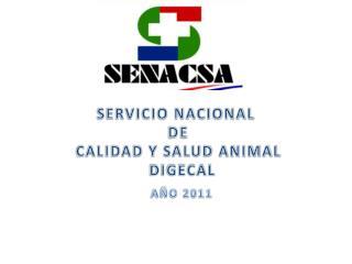 SERVICIO NACIONAL  DE  CALIDAD Y SALUD ANIMAL