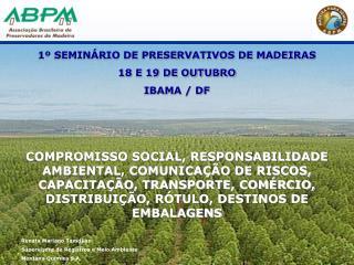 1  SEMIN RIO DE PRESERVATIVOS DE MADEIRAS 18 E 19 DE OUTUBRO IBAMA