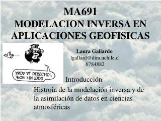 MA691 MODELACION INVERSA EN APLICACIONES GEOFISICAS