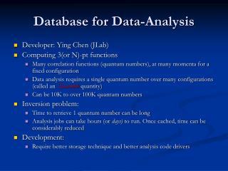 Database for Data-Analysis