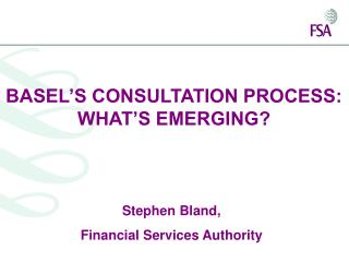 BASEL S CONSULTATION PROCESS:  WHAT S EMERGING