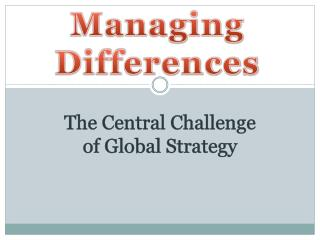 Managing Differences