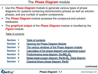 The Phase Diagram module