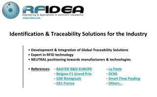 Identification  Traceability Solutions for the Industry